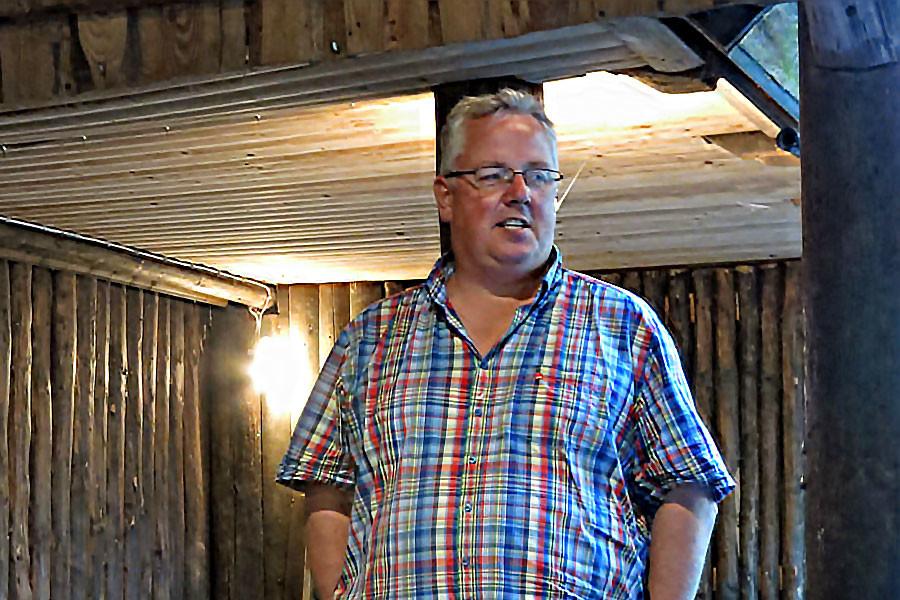 Bernhard Göllner beim Sommerfest